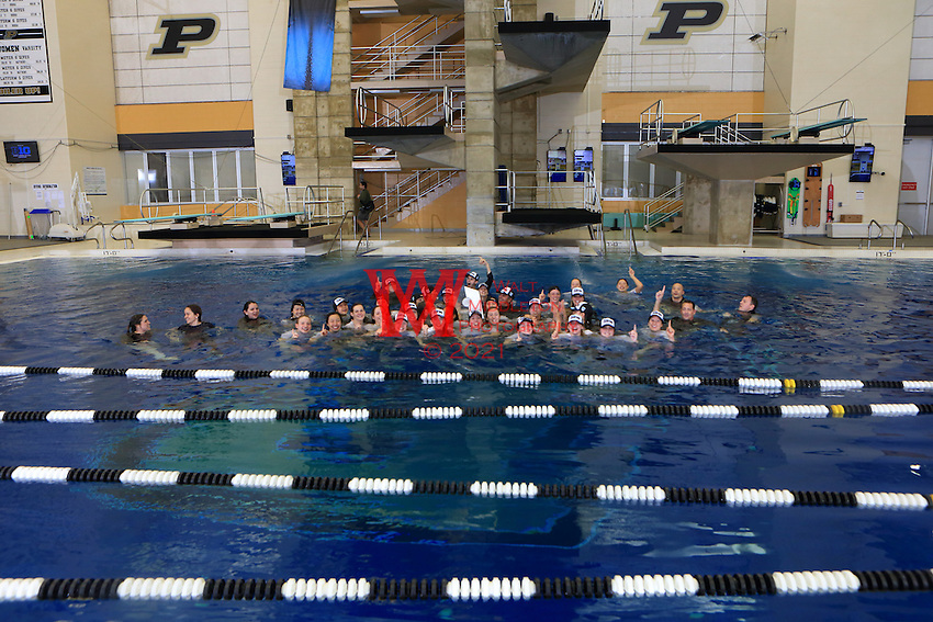 The University of Michigan women's swimming and diving team compete at the 2017 Women's Big Ten Championships at Purdue University. February 18, 2017.<br /> (Photo by Walt Middleton Photography 2017)