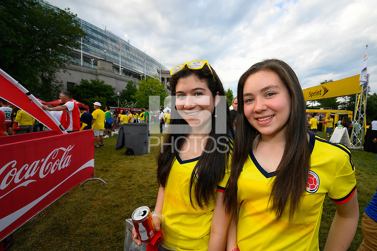 Chicago, IL - Wednesday June 22, 2016: Sponsor prior to a Copa America Centenario semifinal match between Colombia (COL) and Chile (CHI) at Soldier Field.