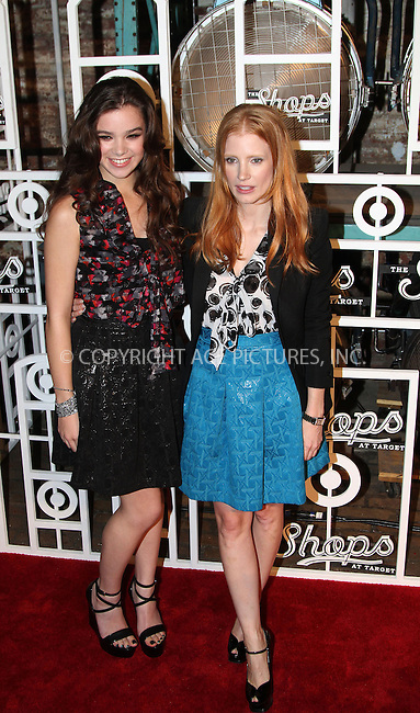 WWW.ACEPIXS.COM....September 5 2012, New York City.... (L-R) Actresses Hailee Steinfeld and Jessica Chastain at The Fall Installment Of The Shops At Target at Highline Stages on September 5, 2012 in New York City.....By Line: Zelig Shaul/ACE Pictures......ACE Pictures, Inc...tel: 646 769 0430..Email: info@acepixs.com..www.acepixs.com