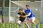 Jamie Doolan Dr Crokes tries to turn Johnny Carey Laune Rangers during their Club Championship semi final in Killarney on Sunday