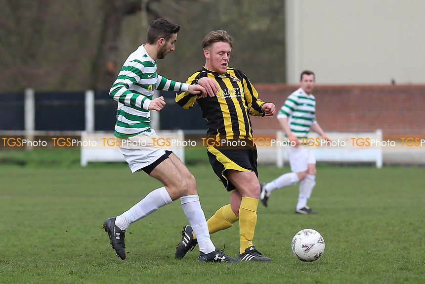 CSS Celtic (white/green) vs Broomfield (yellow/black), Braintree & North Essex Sunday League Cup Final Football at Rosemary Lane on 12th March 2017
