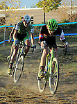 October 17, 2015 - Boulder, Colorado, U.S. - Men's elite cyclist, Brannan Fix #68, bears down on another cyclist on a lower section of the race course during the U.S. Open of Cyclocross, Valmont Bike Park, Boulder, Colorado.