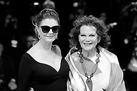 U.S. actress Susan Sarandon, left, and Italian actress Claudia Cardinale, from Kineo delegation, pose on the red carpet for the movie 'Ella & John - The Leisure Seeker' at the 74th Venice Film Festival, Venice Lido, September 3, 2017. <br /> UPDATE IMAGES PRESS/Marilla Sicilia<br /> <br /> *** ONLY FRANCE AND GERMANY SALES ***