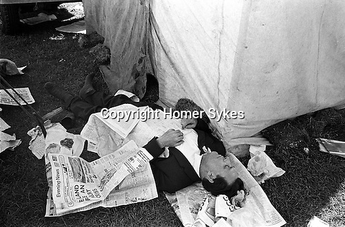 A day at the races. The Derby Horse Race Epsom Downs, Surrey England 1970