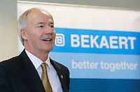 NWA Democrat-Gazette/DAVID GOTTSCHALK  Asa Hutchinson, governor of Arkansas, speak Wednesday, March 23, 2016, at the Bekaert manufacturing plant in Rogers. The company announced a $32 million expansion and the creation of an additional 100 new jobs.
