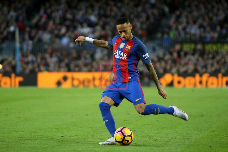 League Santander 2016/2017. Game: 12.<br /> FC Barcelona vs Malaga CF: 0-0.<br /> Neymar Jr.