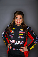 Feb 8, 2018; Pomona, CA, USA; NHRA pro stock driver Erica Enders-Stevens poses for a portrait during media day at Auto Club Raceway at Pomona. Mandatory Credit: Mark J. Rebilas-USA TODAY Sports