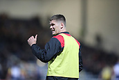 29th September 2017, Sixways Stadium, Worcester, England; Aviva Premiership Rugby, Worcester Warriors versus Saracens; Owen Farrell of Saracens gives the thumbs up to a fan that calls his name