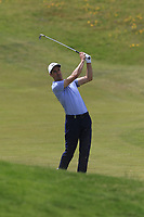 Ross Fisher (ENG) plays his 2nd shot on the 4th hole during Thursday's Round 1 of the Dubai Duty Free Irish Open 2019, held at Lahinch Golf Club, Lahinch, Ireland. 4th July 2019.<br /> Picture: Eoin Clarke | Golffile<br /> <br /> <br /> All photos usage must carry mandatory copyright credit (© Golffile | Eoin Clarke)