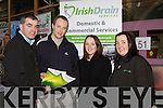 Liam Brosnan Irish Drain Services gives some advice to l-r: Brendan, Maura Doolan and Mary B at the Business Expo in Killarney Outlet Centre on Saturday