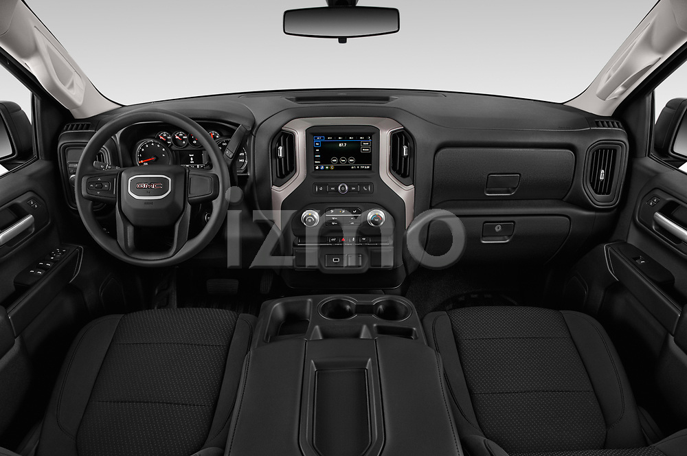 Stock photo of straight dashboard view of 2019 GMC Sierra-1500 WT 4 Door Pick-up Dashboard