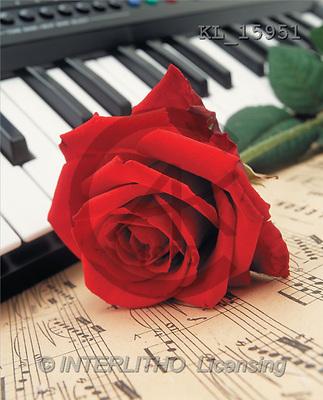 Interlitho, Alberto, VALENTINE, photos, red rose, piano, notes(KL15951,#V#)