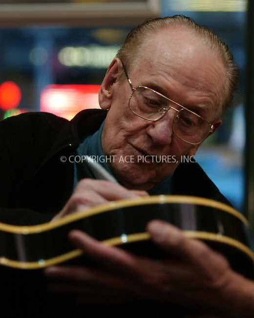 WWW.ACEPIXS.COM . . . . . ....August 14 2007, New York City....Legendary electric guitar inventor Les Paul signed copies of his new DVD 'Les Paul: Chasing sound' at Barnes and Noble in Chelsea.....Please byline: KRISTIN CALLAHAN - ACEPIXS.COM.. . . . . . ..Ace Pictures, Inc:  ..(646) 769 0430..e-mail: info@acepixs.com..web: http://www.acepixs.com