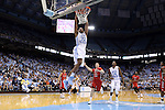 07 November 2014: North Carolina's Isaiah Hicks (22) dunks the ball. The University of North Carolina Tar Heels played the Belmont Abbey College Crusaders in an NCAA Division I Men's basketball exhibition game at the Dean E. Smith Center in Chapel Hill, North Carolina. UNC won the game 112-34.