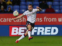 Bolton Wanderers' Jack Hobbs clears from defence <br /> <br /> Photographer Andrew Kearns/CameraSport<br /> <br /> The EFL Sky Bet Championship - Bolton Wanderers v Sheffield Wednesday - Tuesday 12th March 2019 - University of Bolton Stadium - Bolton<br /> <br /> World Copyright © 2019 CameraSport. All rights reserved. 43 Linden Ave. Countesthorpe. Leicester. England. LE8 5PG - Tel: +44 (0) 116 277 4147 - admin@camerasport.com - www.camerasport.com