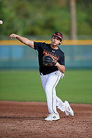 Nicholai Bermeo (62) of Chicago, Illinois during the Baseball Factory Pirate City Christmas Camp & Tournament on December 28, 2018 at Pirate City in Bradenton, Florida. (Mike Janes/Four Seam Images)