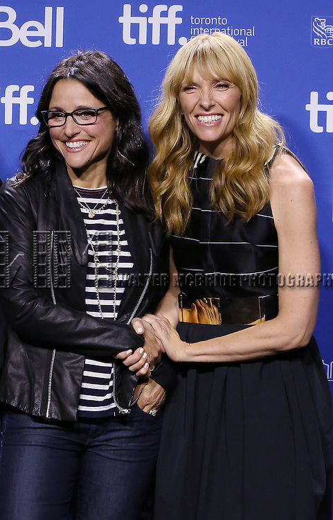 "Julia Louis-Dreyfus and  Toni Collette attending the 2013 Tiff Film Festival Photo Call for ""Enough Said""  at the Tiff Lightbox  on September 8, 2013 in Toronto, Canada."