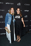 Stacy Igel (right) and guest arrive at the 2017 Clio Awards in The Tent at Lincoln Center in New York City on September 27, 2017.