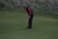 Michael Duignan (Royal Dublin) on the 12th during Round 2 of the Ulster Boys Championship at Portrush Golf Club, Portrush, Co. Antrim on the Valley course on Wednesday 31st Oct 2018.<br /> Picture:  Thos Caffrey / www.golffile.ie<br /> <br /> All photo usage must carry mandatory copyright credit (&copy; Golffile | Thos Caffrey)