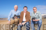 WILD ATLANTIC WAY: Winners of the Wild Atlantic Way photo competition at Fenit beach on Monday l-r: Domnick Walsh, The Kerries, John Drummey (Tralee Chamber Alliance) and Kirk Kelly, Fenit.