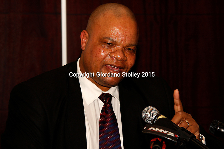 BALLITO - 14 July 2015 - Zizamele Mbambo, the deputy director of nuclear energy in South Africa's energy department briefs the media on the government's plans to secure a strategic partner who will help the country build six nuclear power stations to generate nearly a quarter of the of the country's electricity by 2030. Picture: Allied Picture Press/APP