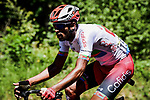 Natnael Berhane (ERI) Cofidis in the breakaway during Stage 10 of the 2019 Tour de France running 217.5km from Saint-Flour to Albi, France. 15th July 2019.<br /> Picture: ASO/Pauline Ballet | Cyclefile<br /> All photos usage must carry mandatory copyright credit (© Cyclefile | ASO/Pauline Ballet)