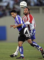 10 September 2005: Mark Chung of the Earthquakes fights for the ball against Thiago Martins of the CD Chivas USA during the first half of the game at Spartan Stadium in San Jose, California.    San Jose Earthquakes tied CD Chivas USA, 0-0 at halftime.