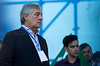 """Antonio Tajani MEP (Member of the European Parliament for Forza Italia, former President of the European Parliament). <br /> <br /> Rome, 19/10/2019. Today, tens thousands of people (200,000 for the organisers, 50,000 for the police) gathered in Piazza San Giovanni to attend the national demonstration """"Orgoglio Italiano"""" (Italian Pride) of the far-right party Lega (League) of Matteo Salvini. The demonstration was supported by Silvio Berlusconi's party Forza Italia and Giorgia Meloni's party Fratelli d'Italia (Brothers of Italy, right-wing).  <br /> The aim of the rally was to protest against the Italian coalition Government (AKA Governo Conte II, Conte's Second Government, Governo Giallo-Rosso, 1.) lead by Professor Giuseppe Conte. The 66th Government of Italy is a coalition between Five Star Movement (M5S, 2.), Democratic Party (PD – Center Left, 3.), and Liberi e Uguali (LeU – Left, 4.), these last two parties replaced Lega / League as new members of a coalition based on Parliamentarian majority as stated in the Italian Constitution. The Governo Conte I (Conte's First Government, 5.) was 14-month-old when, between 8 and 9 of August 2019, collapsed after the Interior Minister Matteo Salvini withdrew his euroskeptic, anti-migrant, right-wing Lega / League (6.) from the populist coalition in a pindaric attempt (miserably failed) to trigger a snap election.<br /> <br /> Footnotes & Links:<br /> 1. http://bit.do/feK6N<br /> 2. http://bit.do/e7JLx<br /> 3. http://bit.do/e7JKy<br /> 4. http://bit.do/e7JMP<br /> 5. http://bit.do/e7JH7<br /> 6. http://bit.do/eE7Ey<br /> https://www.leganord.org<br /> http://bit.do/feK9X (Source, TheGuardian.com)<br /> Reportage: """"La Fabbrica Della Paura"""" (The Factory of Fear): http://bit.do/feLcy (Source Report, Rai.it - ITA)<br /> (Update) Reportage: """"La Fabbrica Social Della Paura"""" (The Social Network Factory of Fear): http://bit.do/fe8Pn (Source Report, Rai.it - ITA)"""