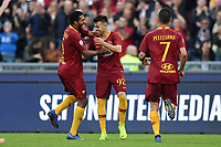 Stephan El Shaarawy of AS Roma celebrates after scoring the third goal for his side during the Serie A 2018/2019 football match between AS Roma and UC Sampdoria at stadio Olimpico, Roma, November, 11, 2018 <br />  Foto Andrea Staccioli / Insidefoto