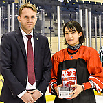 06.01.2020, BLZ Arena, Füssen / Fuessen, GER, IIHF Ice Hockey U18 Women's World Championship DIV I Group A, <br /> Japan (JPN) vs Daenemark (DEN), <br /> im Bild Ehrung beste Spielerin, Yumeka Wajima (JPN, #12)<br />  <br /> Foto © nordphoto / Hafner