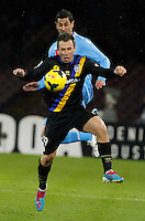 Antonio Cassano in action during the Italian Serie A soccer match between SSC Napoli and Parma FC at San Paolo stadium in Naples