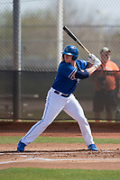 Kansas City Royals first baseman Chris DeVito (34) during a Minor League Spring Training game against the Milwaukee Brewers at Maryvale Baseball Park on March 25, 2018 in Phoenix, Arizona. (Zachary Lucy/Four Seam Images)