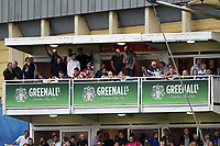 A general view of Greenall's signage in the hospitality boxes. Gallagher Premiership match, between Bath Rugby and Gloucester Rugby on September 8, 2018 at the Recreation Ground in Bath, England. Photo by: Patrick Khachfe / Onside Images