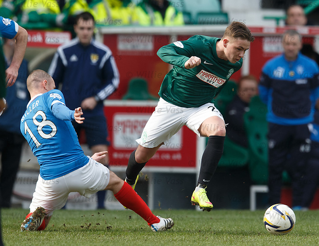 Scott Allan gets away from Kenny Miller