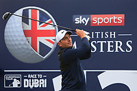 Francesco Molinari (ITA) on the 12th tee during Round 1of the Sky Sports British Masters at Walton Heath Golf Club in Tadworth, Surrey, England on Thursday 11th Oct 2018.<br /> Picture:  Thos Caffrey | Golffile<br /> <br /> All photo usage must carry mandatory copyright credit (© Golffile | Thos Caffrey)