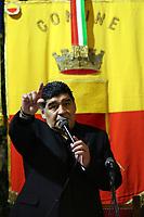 Diego Armando Maradona <br /> Napoli 05-07-2017  Napoli Palazzo San Giacomo<br /> Cittadinanza onoraria a Diego Armando Maradona <br /> da parte del Comune di Napoli.<br /> Conferral of honorary citizenship of Naples to Diego Armando Maradona. .<br /> Foto Cesare Purini / Insidefoto