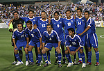 El Salvador's starters pose for a team photo. Front row (from left): Dennis Alas, Ronald Cerritos, Vicente Melgar, Manuel Salazar. Back row (from left): Juan Jose Gomez, Jose Mardoqueo Henriquez, Ramiro Carballo, Juan Alexander Campos, Alexander Escobar, Ramon Sanchez, Carlos Menjivar. Tuesday, March 27th, 2007 at SAS Stadium in Cary, North Carolina. The Honduras Men's National Team defeated El Salvador 2-0 in a men's international friendly.