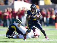 C.J. Anderson of California runs the ball during 115th Big Game against Stanford at Memorial Stadium in Berkeley, California on October 20th, 2012.  Stanford defeated California, 21-3.