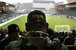 """04/14/11--Jose M. Campos got the Timbers """"T"""" logo on the back of his head earlier today   before the home-opener between the Portland-Chicago soccer match.....Photo by Jaime Valdez........................................"""