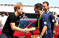 07 May 2016 - Orlando, Florida - Prince Harry during the Jaguar Landrover Driving Challenge at Invictus Games Orlando 2016 at ESPN Wide World of Sports in Orlando, Florida. Prince Harry, patron of the  Invictus Games Foundation is in Orlando ahead of the opening of Invictus Games which will open on Sunday. The Invictus Games is the only International sporting event for wounded, injured and sick servicemen and women. Started in 2014 by Prince Harry the Invictus Games uses the power of Sport to inspire recovery and support rehabilitation. Photo Credit: Alpha Press/AdMedia