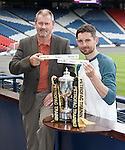 Ex-Rangers defender Ally Dawson with Ben Gordon of Livingston after the Petrofac Cup draw at Hampden