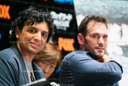 "(L to R) Director M. Night Shyamalan and the actor Matt Dillon attend the talk show of the mystery drama ""Wayward Pines"" at the United Cinemas in Toyosu area on May 21, 2015, Tokyo, Japan. Dillon and Shyamalan are in Japan to promote simultaneous worldwide launch of the mystery drama through the FOX channel. Wayward Pines is an American television series based on the novel Pines by Blake Crouch. (Photo by Rodrigo Reyes Marin/AFLO)"