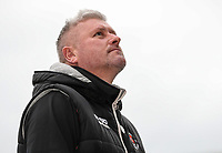 Blackpool's manager Terry McPhillips relaxing before the match <br /> <br /> Photographer Andrew Kearns/CameraSport<br /> <br /> The EFL Sky Bet League One - Portsmouth v Blackpool - Saturday 12th January 2019 - Fratton Park - Portsmouth<br /> <br /> World Copyright &copy; 2019 CameraSport. All rights reserved. 43 Linden Ave. Countesthorpe. Leicester. England. LE8 5PG - Tel: +44 (0) 116 277 4147 - admin@camerasport.com - www.camerasport.com