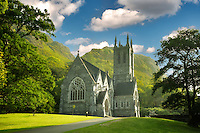 Gothic Church, Mary Henry's Memorial at the Kylemore Abbey. Connemara region, ireland