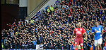 Rangers fans diving to the left and diving to the right...