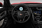 Car pictures of steering wheel view of a 2018 Cadillac CTS V V 4 Door Sedan Steering Wheel