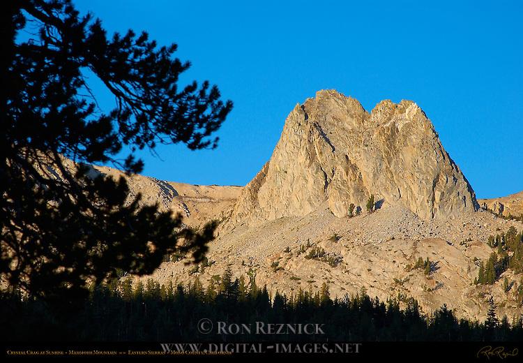 Crystal Crag at Sunrise, Mammoth Mountain, Eastern Sierras, Mono County, California