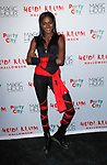 Zuri Tibby arrives at Heidi Klum's 18th Annual Halloween Party presented by Party City and SVEDKA Vodka at Magic Hour Rooftop Bar & Lounge at Moxy Times Square, on October 31, 2017.
