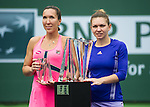 Simona Halep (ROU) wins the BNP Parisbas Open against Jelena Jankovic (SRB). Halep won her first BNP Parisbas Open after defeating Jankovic 26 75 64 in Indian Wells, CA on March 22, 2015.
