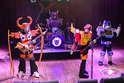 Cybertronic Spree Transformers band, by Akron and Cleveland Music Photographer, Portrait Photographer and Event Photographer Mara Robinson, Mara Robinson Photography. At the Cleveland House of Blues